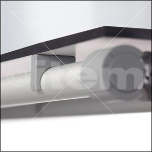 精益管管夹 D30,灰色,类似于 RAL 7042